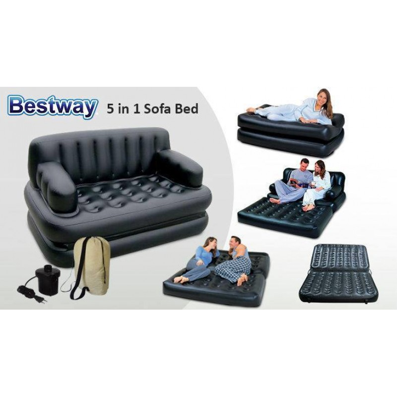 5 In 1 Sofa Bed With Pumper Free Xenonmart